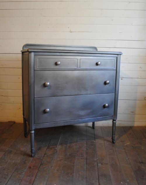 simmons metal furniture. Vintage Simmons Steel Dresser Metal Furniture