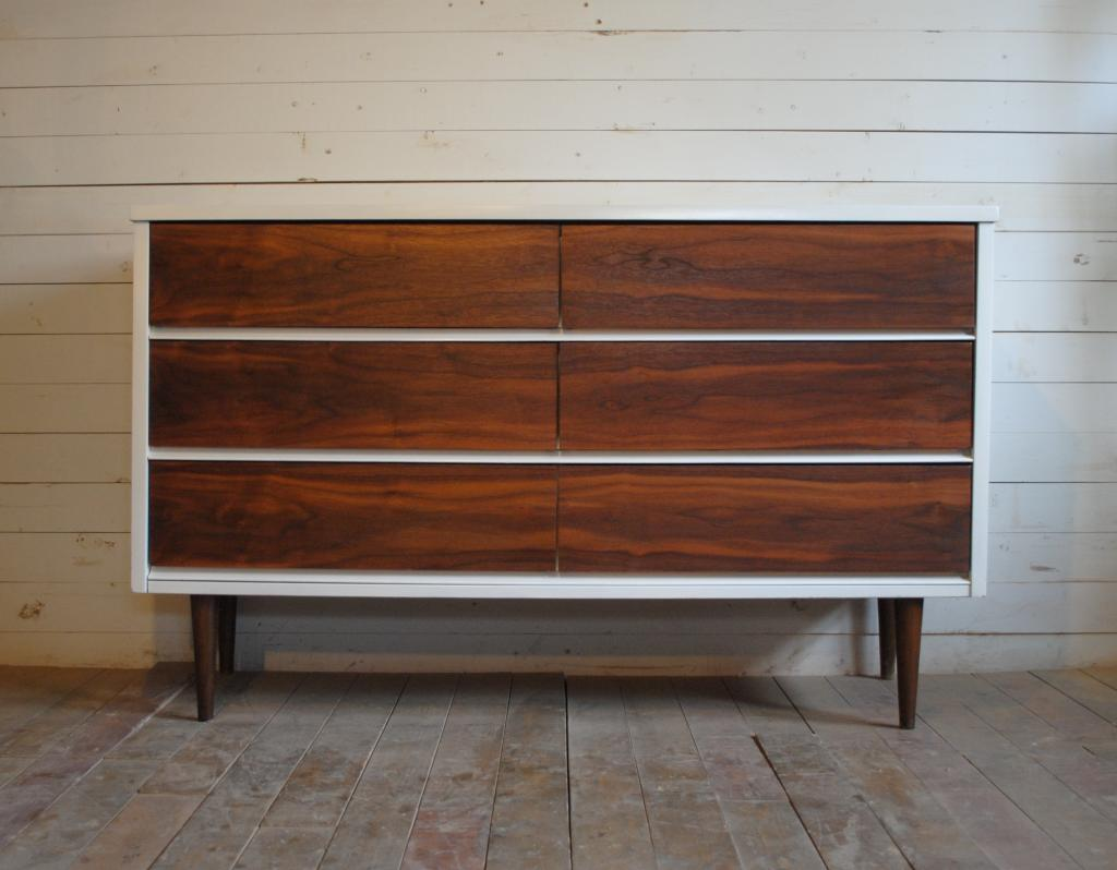 Mid century modern six drawer dresser credenza phylum for Modern mid century furniture
