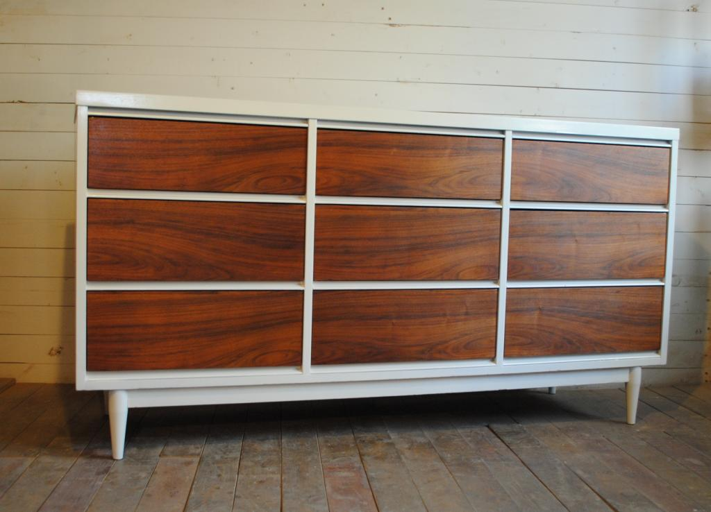 Mid Century Modern Nine Drawer Dresser Credenza Phylum Furniture
