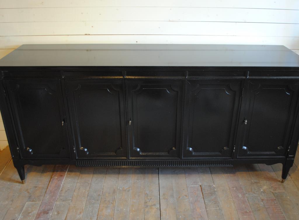 Vintage Black Credenza Phylum Furniture