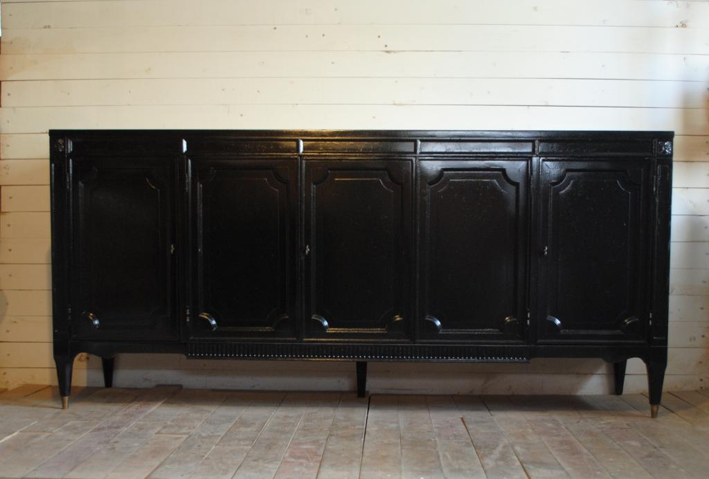 Vintage Black Credenza Phylum Furniture