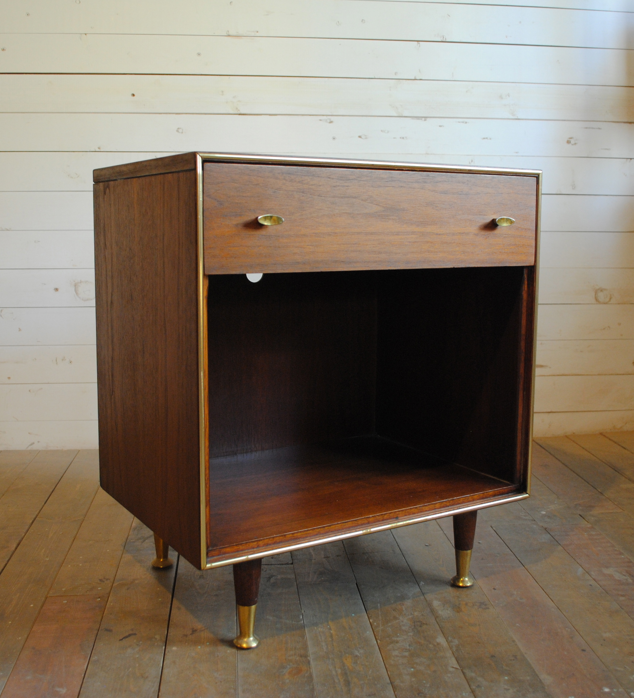 Mid Century Walnut End Table Nightstand Phylum Furniture