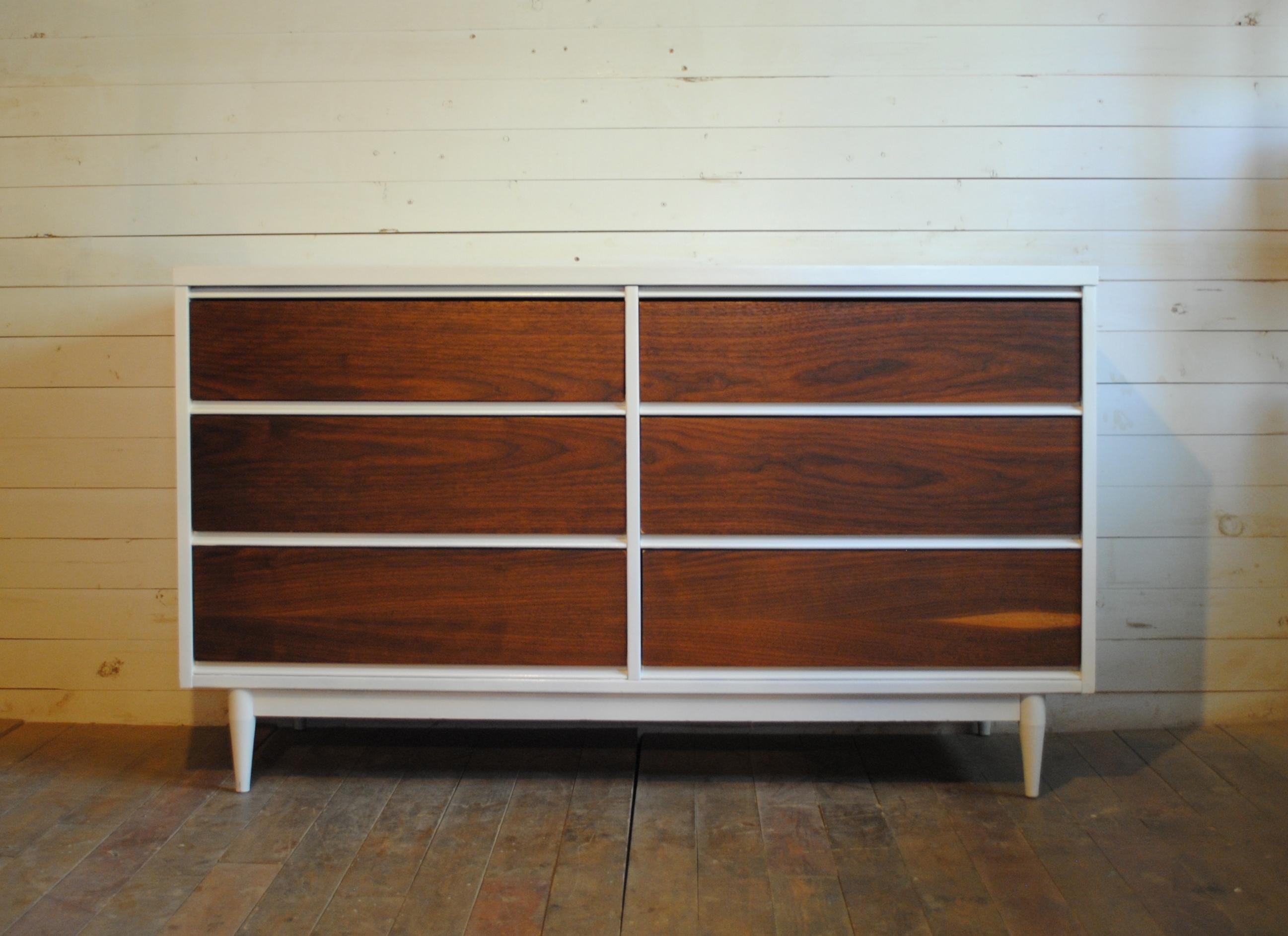 Ikea Malm Credenza : Mid century modern six drawer dresser credenza phylum furniture