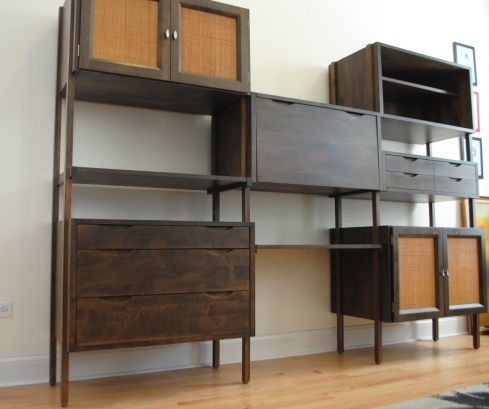 Mid century modern modular shelving unit phylum furniture for Mid century modern modular homes