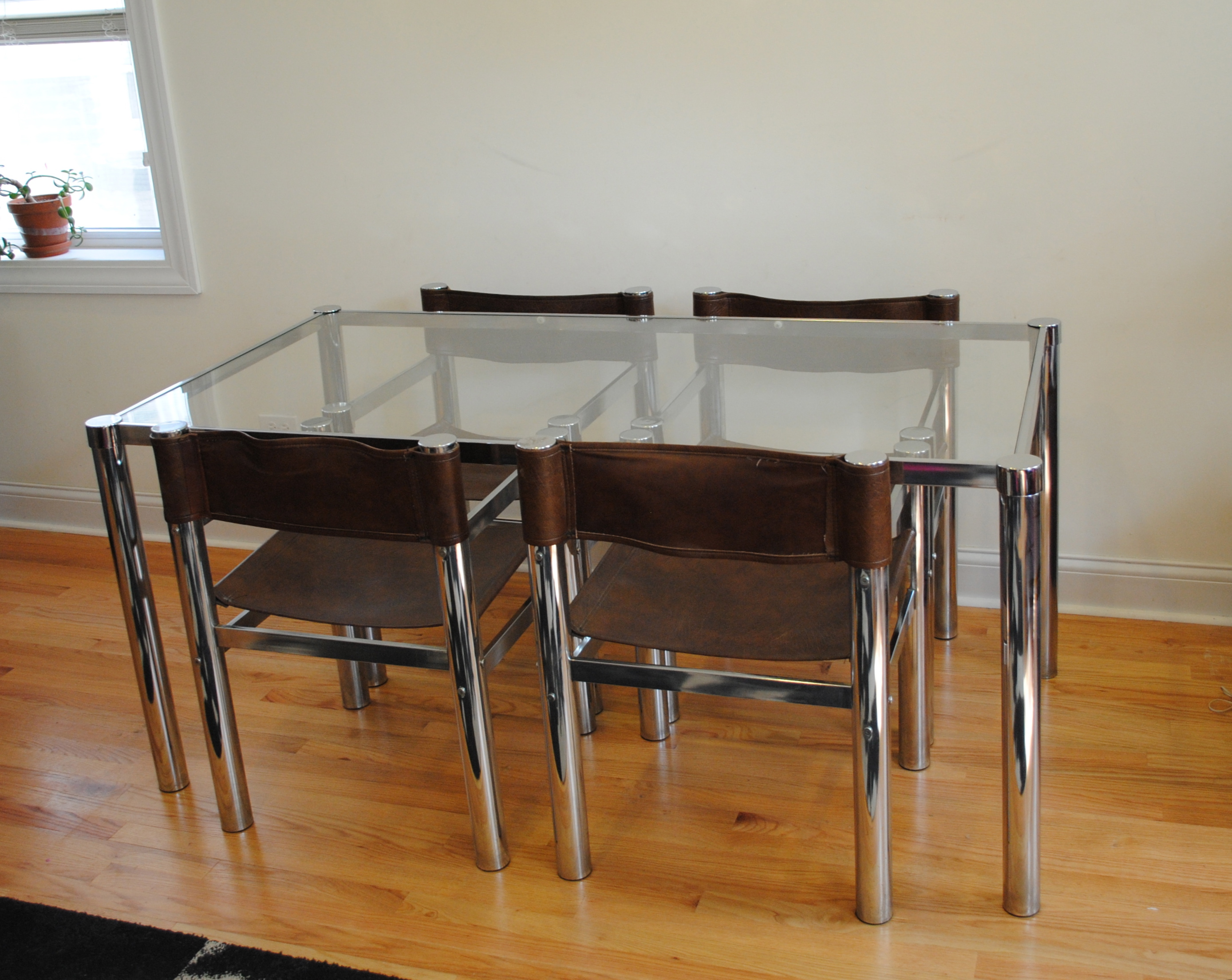 Beau Vintage Chrome Dining Set