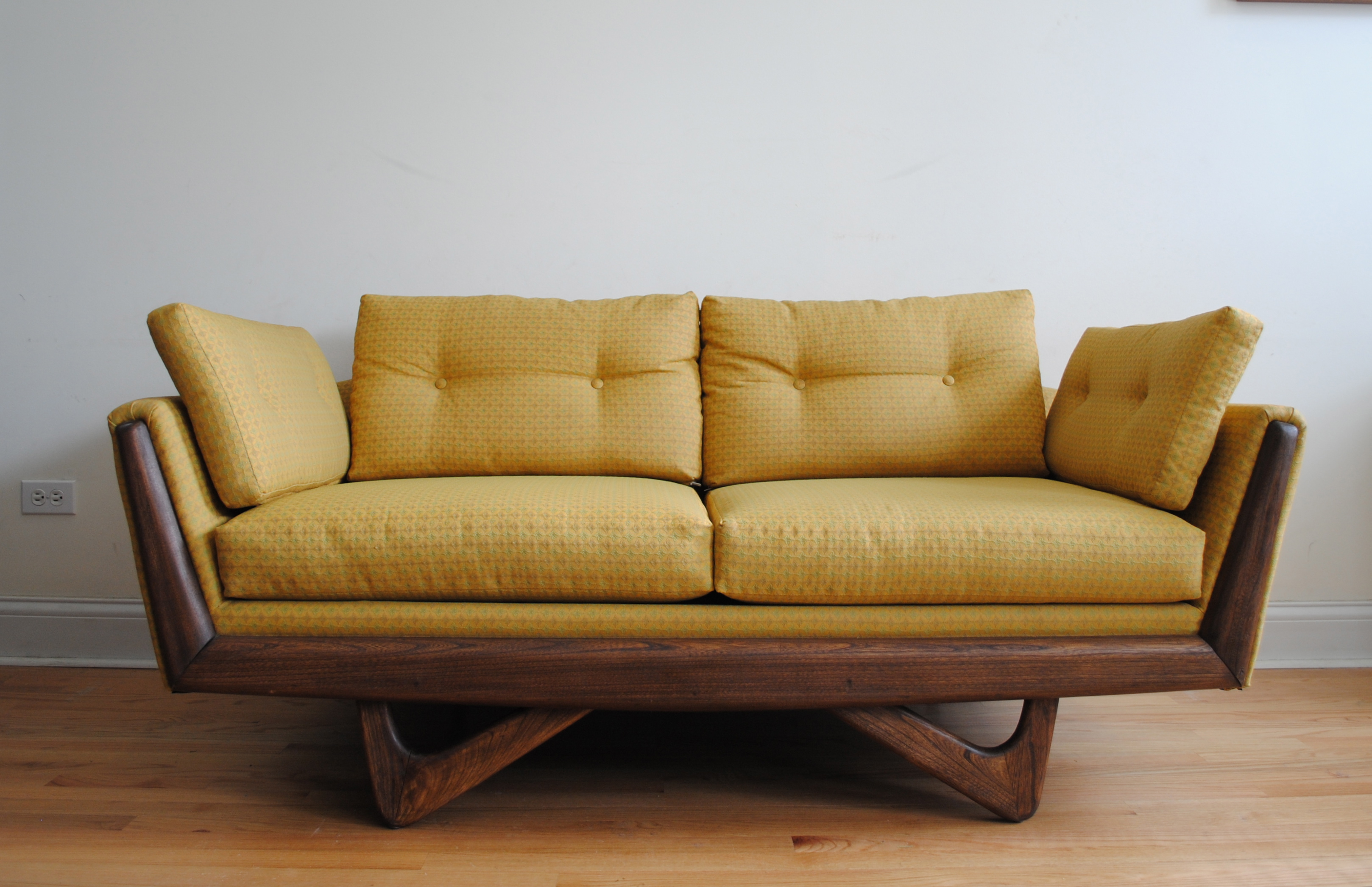 Mid century modern adrian pearsall sofa phylum furniture for Modern sofa chair