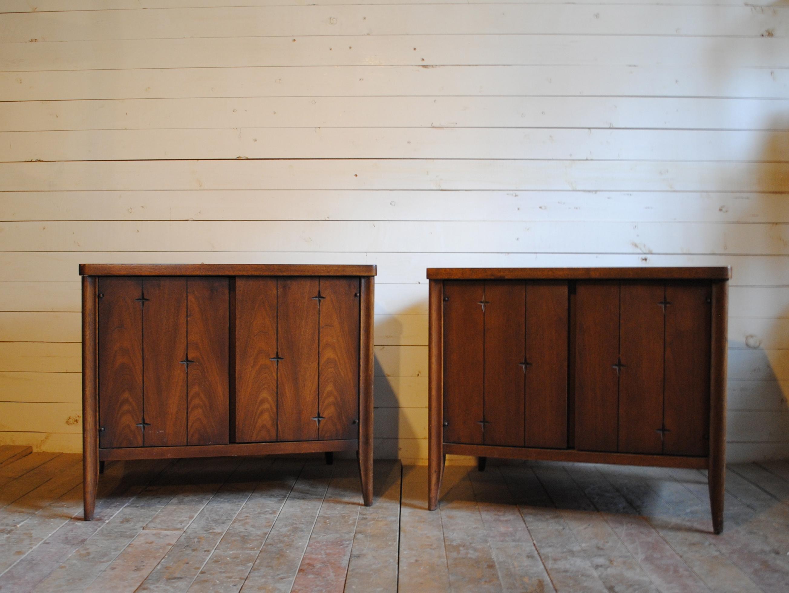 Mid Century Broyhill Saga End Tables Phylum Furniture