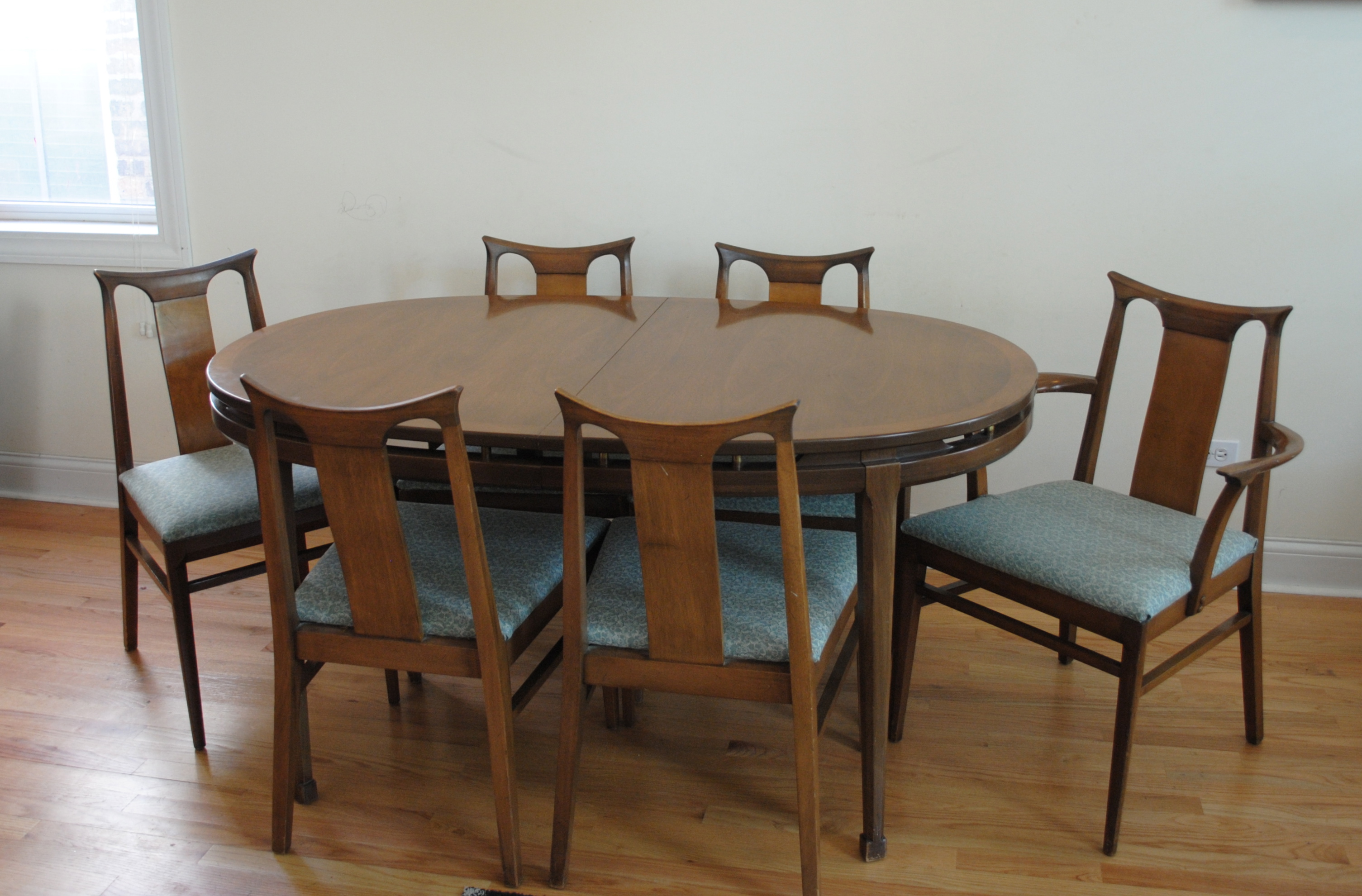good Mid Century Walnut Dining Chairs Part - 12: Mid Century Dining Set