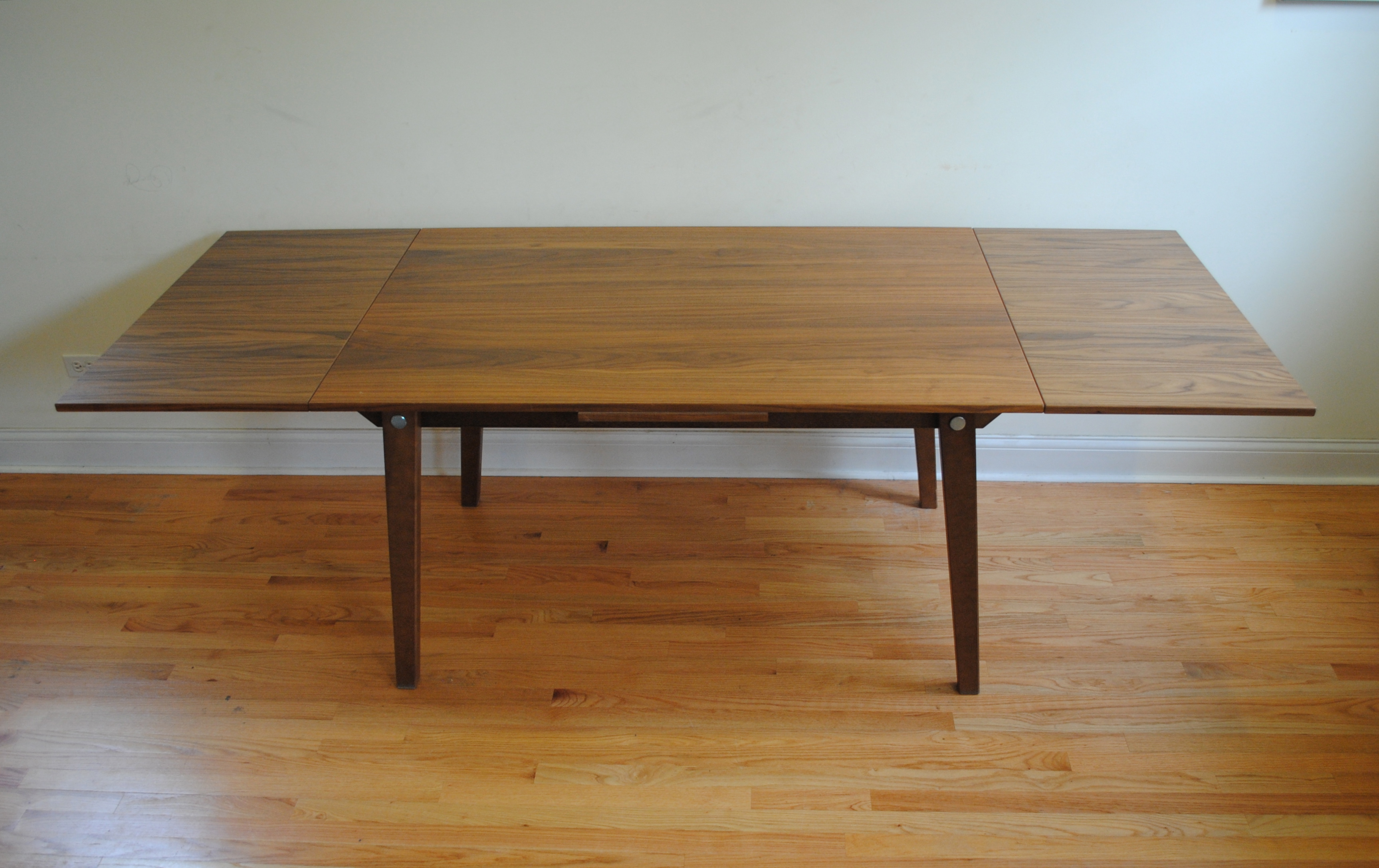 danish modern extendable dining table phylum furniture