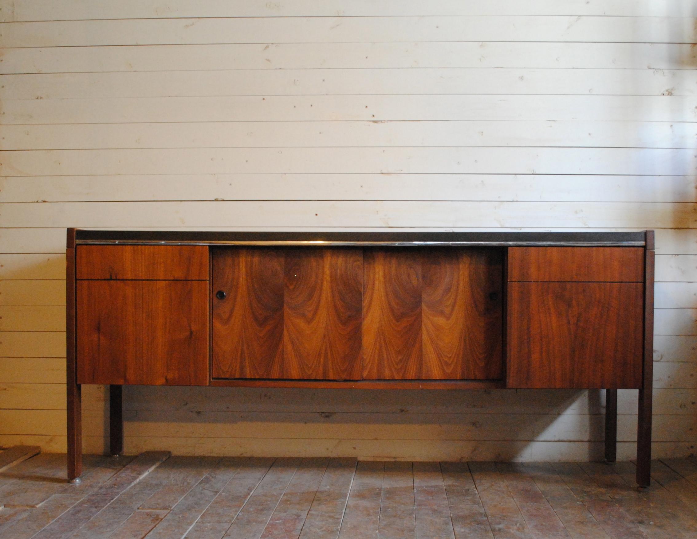 Credenza Dark Brown : Vintage walnut credenza phylum furniture