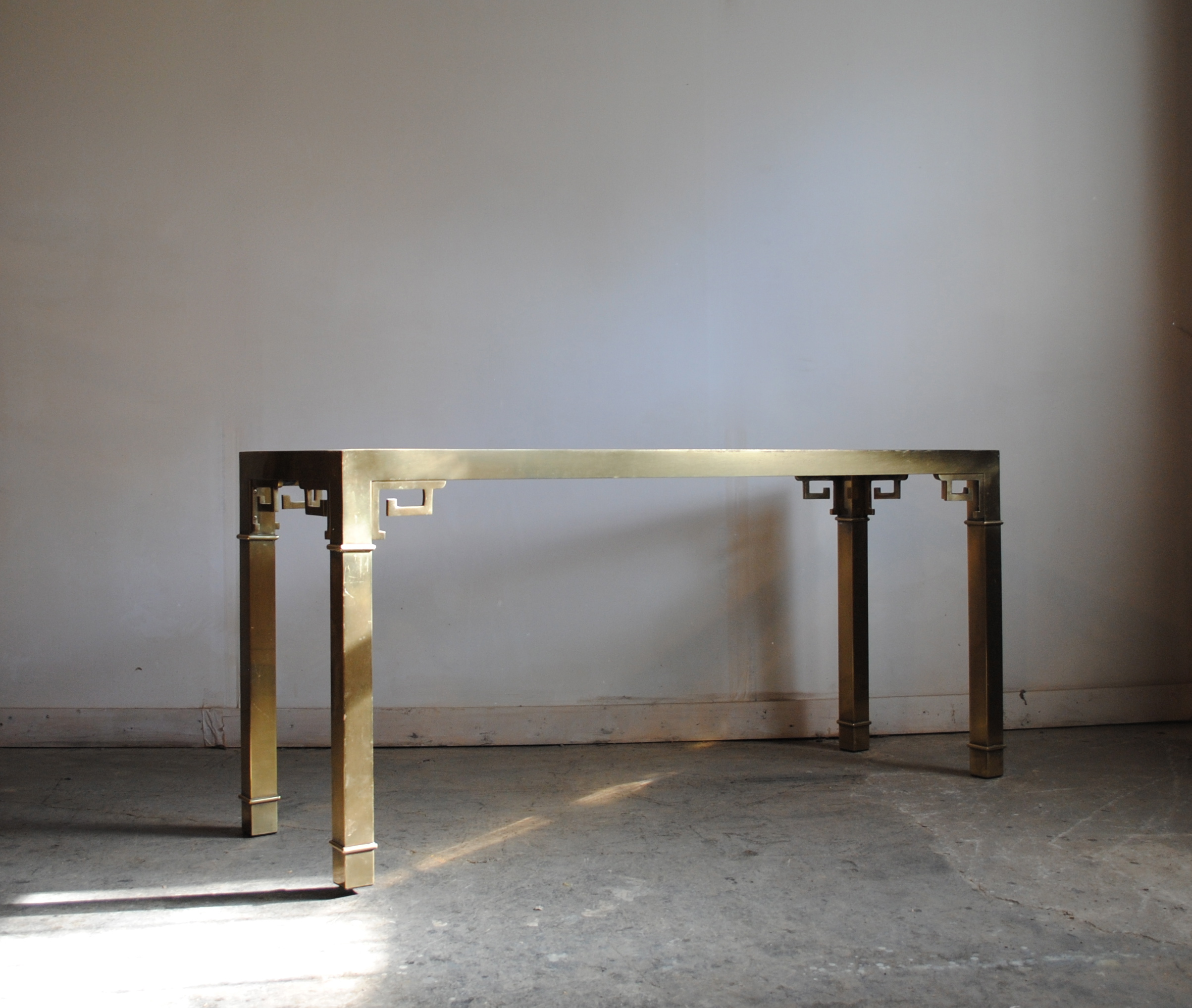 Vintage Mastercraft Brass Console Table Phylum Furniture