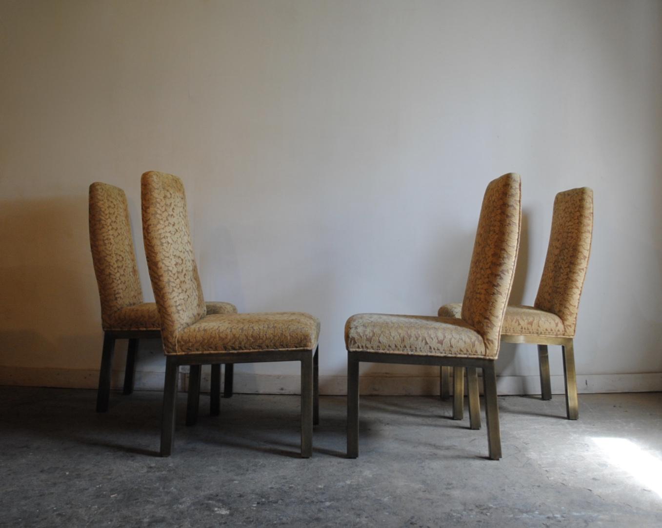 Vintage Mastercraft Brass Dining Chairs Phylum Furniture