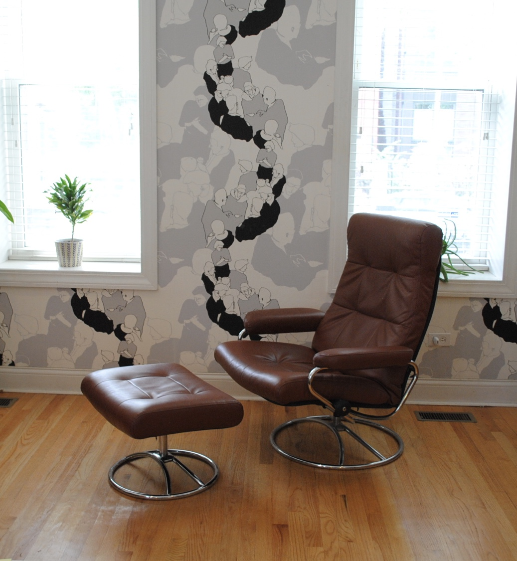 Vintage Ekornes Stressless Reclining Lounge Chair. Leather In Excellent  Condition. Made In Norway.